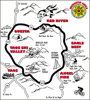 Red River Memorial Day Scenic RoadMotorcycle Rally Map