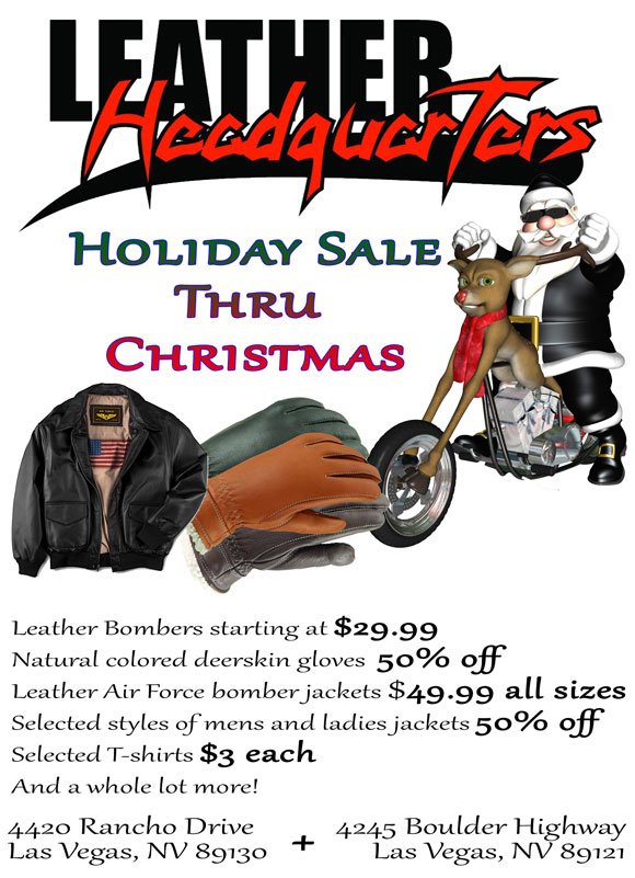 Holiday Sale at Leather Headquarters