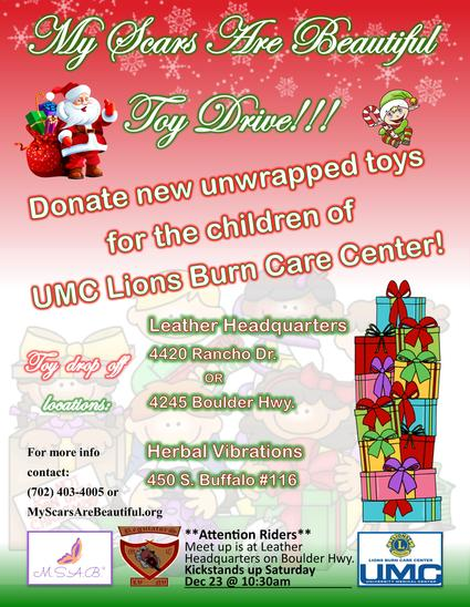 My Scars are Beautiful Toy Drive!