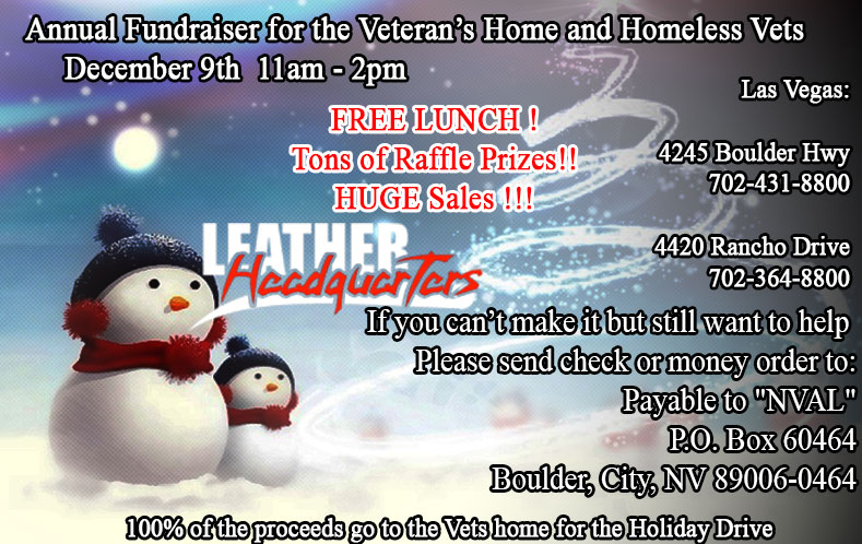 Annual Fundraiser for the Veteran's Home and Homeless Vets