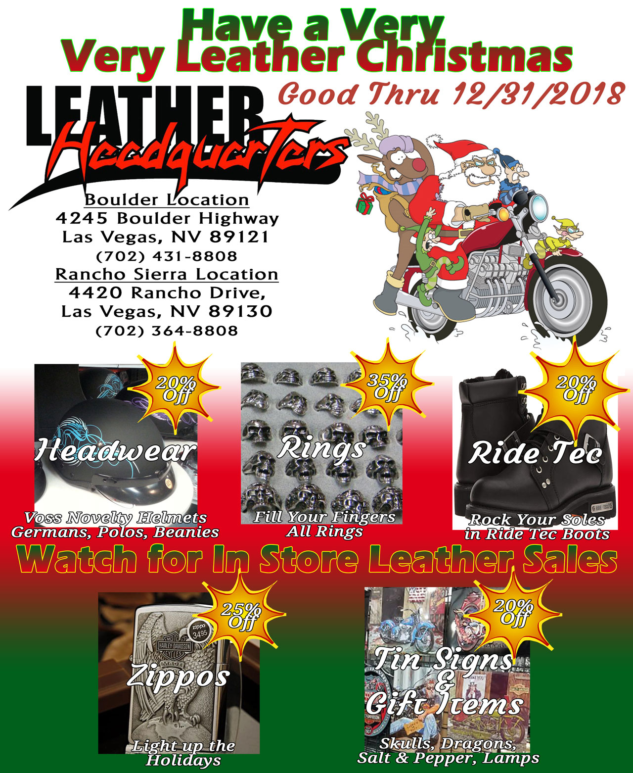 Have A Very Very Leather Christmas!
